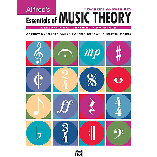 Alfred Alfred's Essentials of Music Theory: Teacher's Answer Key Book & 2 Ear Training CDs-thumbnail