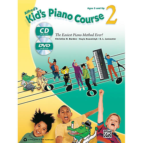 Alfred Alfred's Kid's Piano Course 2 Book, CD & DVD-thumbnail