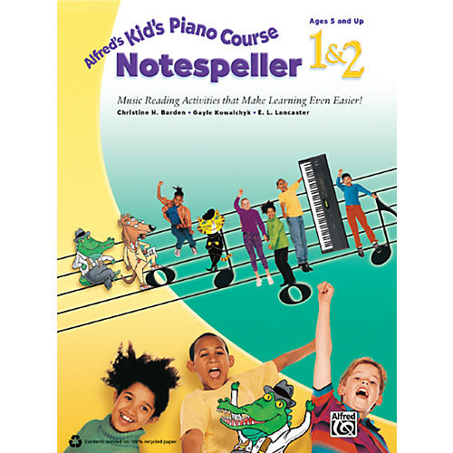 Alfred Alfred's Kid's Piano Course Notespeller 1 & 2 Book-thumbnail