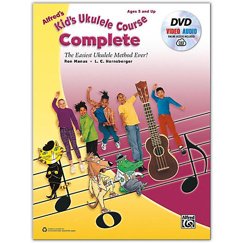 Alfred Alfred's Kid's Ukulele Course, Complete Book, DVD & Online Audio & Video Beginner