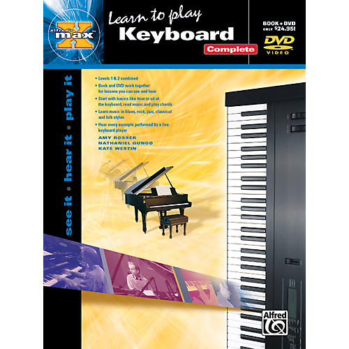 Alfred Alfred's MAX Keyboard Complete Book & DVD in Sleeve-thumbnail