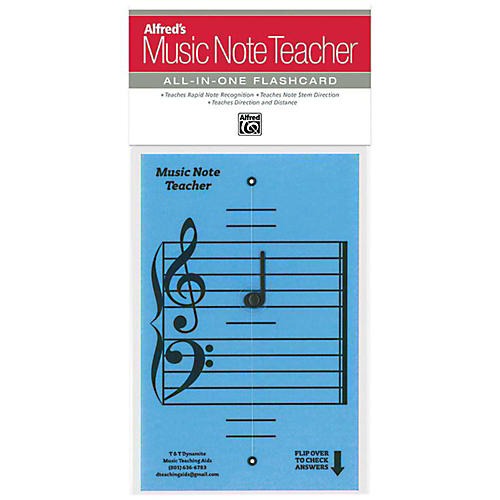 Alfred Alfred's Music Note Teacher All-In-One Flashcard Blue-thumbnail