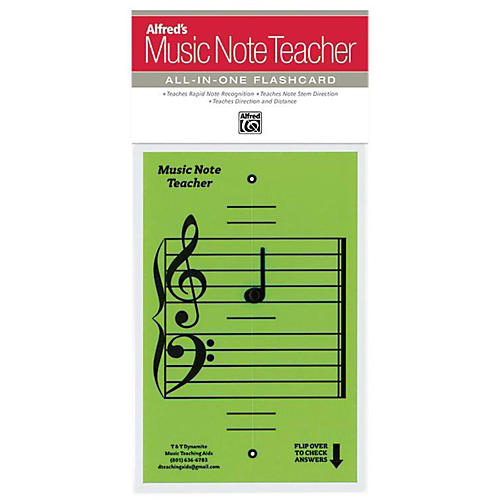 Alfred Alfred's Music Note Teacher All-In-One Flashcard Green-thumbnail