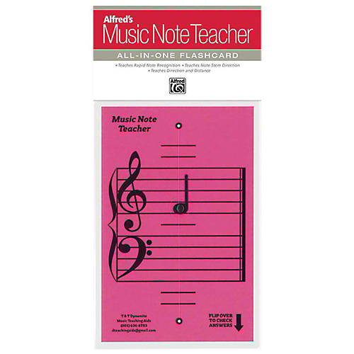 Alfred Alfred's Music Note Teacher All-In-One Flashcard Pink