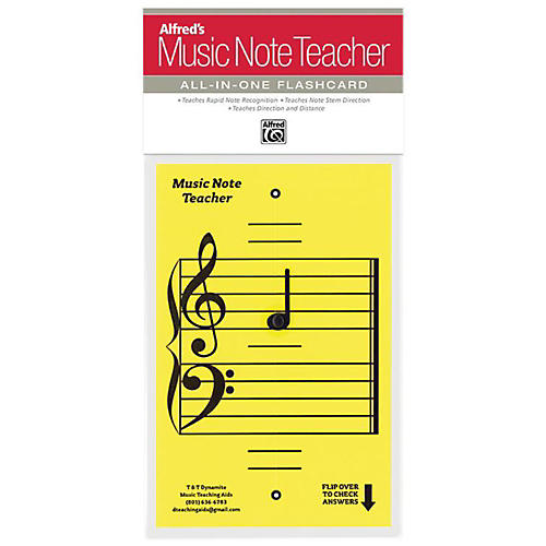 Alfred Alfred's Music Note Teacher All-In-One Flashcard Yellow