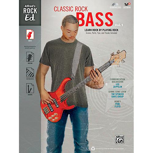 Alfred Alfred's Rock Ed.: Classic Rock Bass Vol. 1 Book & CD-ROM