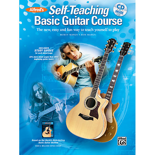alfred alfred 39 s self teaching basic guitar course book cd guitar center