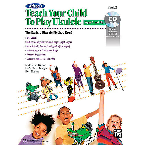 Alfred Alfred's Teach Your Child to Play Ukulele Book 2 & CD-thumbnail