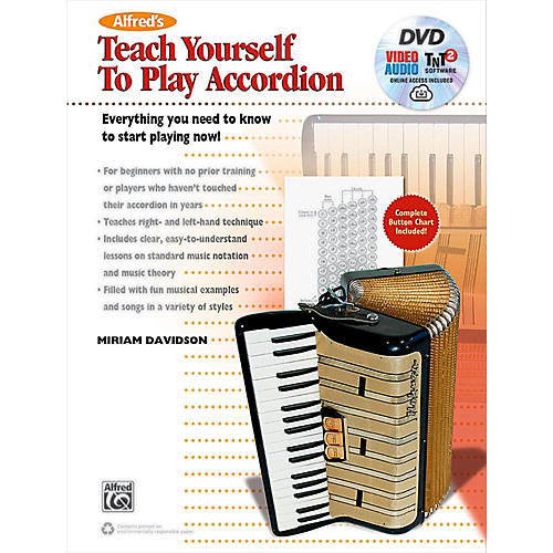 Alfred Alfred's Teach Yourself to Play Accordion: Book, DVD & Online Audio, Video & Software-thumbnail