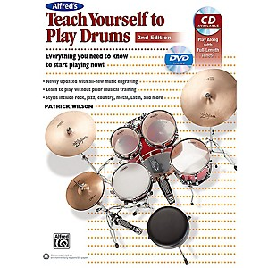 Alfred Alfreds Teach Yourself to Play Drums 2nd Edition Book CD and DVD by Alfred