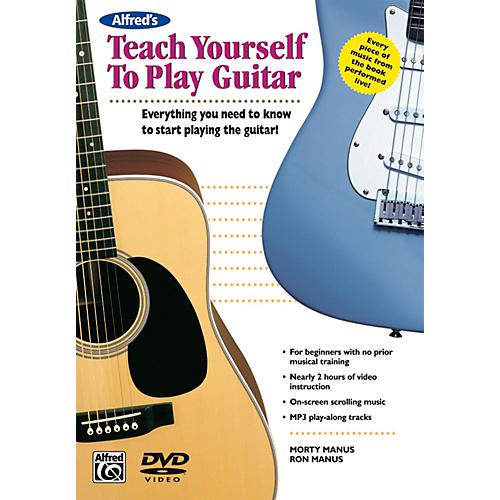 alfred alfred 39 s teach yourself to play guitar book dvd guitar center. Black Bedroom Furniture Sets. Home Design Ideas