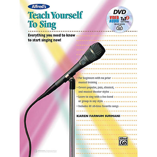Alfred Alfred's Teach Yourself to Sing Book, DVD & Online Audio, Video & Software-thumbnail