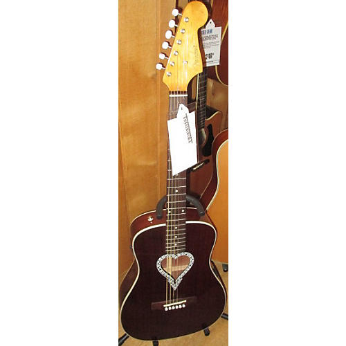 Fender Alkaline Trio Malibu Mahogany Acoustic Guitar-thumbnail