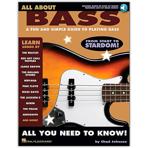 Hal Leonard All About Bass (Fun & Simple Guide To Playing Bass From Start To Stardom) Book/CD