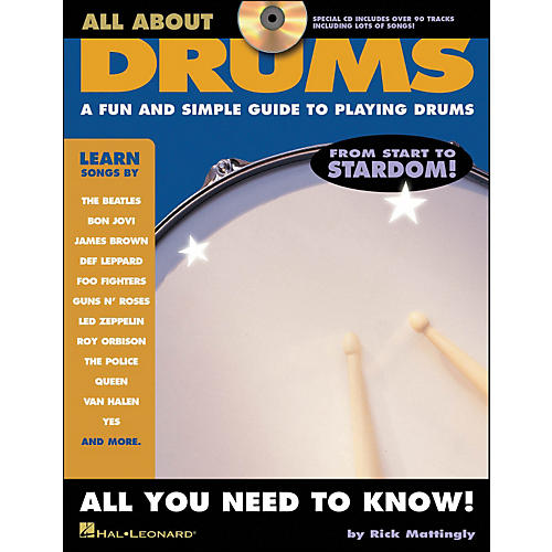 Hal Leonard All About Drums Book/CD Series-thumbnail