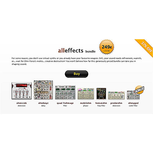 Ohm Force All Effects Bundle Software Download