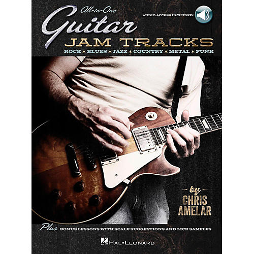 Hal Leonard All-In-One Guitar Jam Tracks - Book with Online Audio Tracks-thumbnail