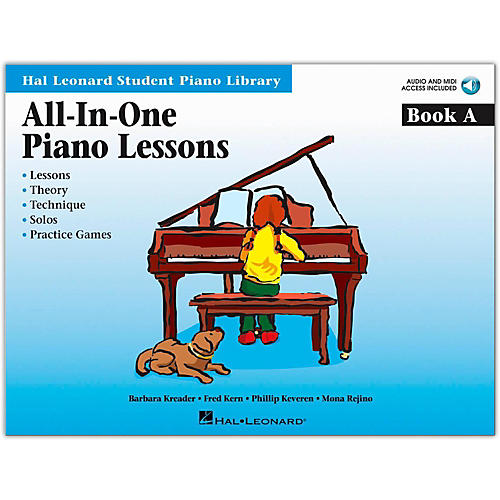 Hal Leonard All-In-One Piano Lessons Book A (Book/Online Audio)-thumbnail