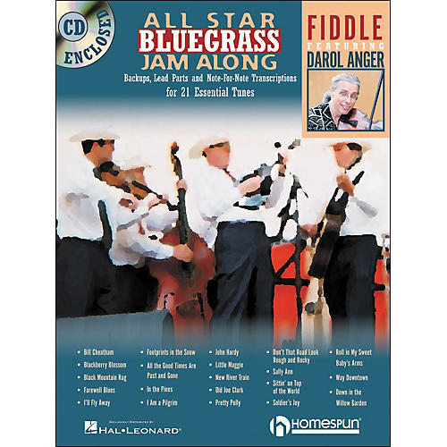 Homespun All Star Bluegrass Jam-Along for Fiddle Book/CD