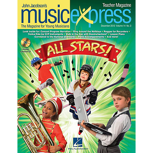 Hal Leonard All Stars Vol. 14 No. 3 (December 2013) Teacher Magazine w/CD by Owl City Arranged by Roger Emerson