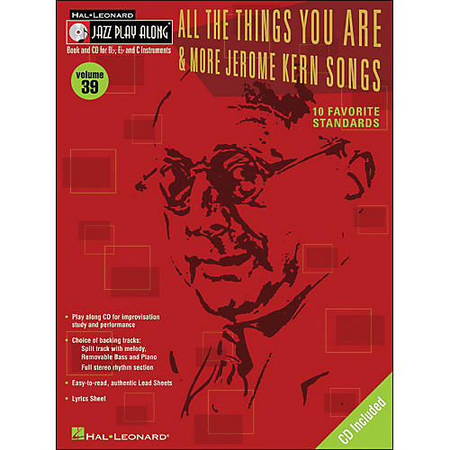 Hal Leonard All The Things You Are & More Jerome Kern Songs Jazz Play-Along Volume 39 Book/CD-thumbnail