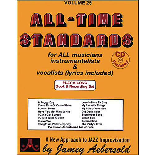 Jamey Aebersold All Time Standards Book and CD