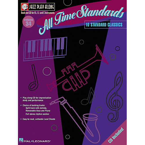 Hal Leonard All Time Standards--Jazz Play Along Volume 34 Book with CD-thumbnail