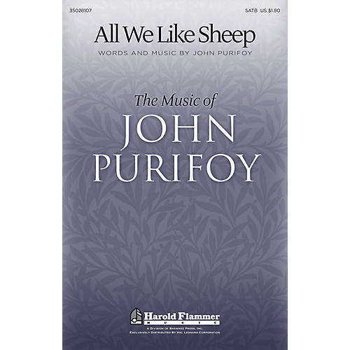 Shawnee Press All We Like Sheep SATB composed by John Purifoy