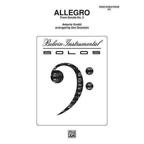 Alfred Allegro for Tuba By Antonio Vivaldi / arr. Kenneth Swanson Book