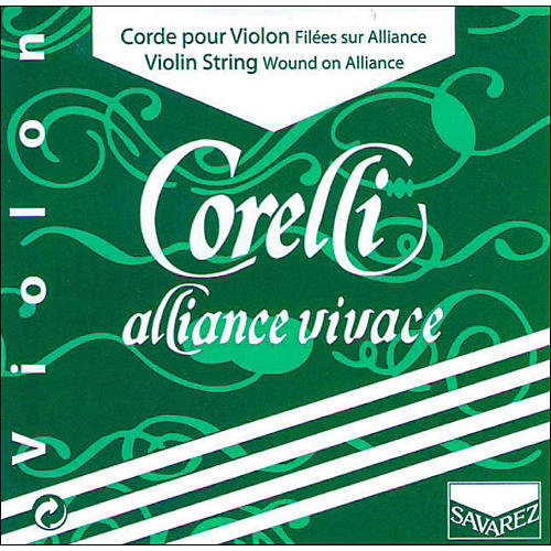 Corelli Alliance Vivace Violin String Set 4/4 Size Medium Ball End-thumbnail