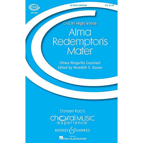 Boosey and Hawkes Alma Redemptoris Mater (CME In High Voice) SA composed by Chiara Margarita Cozzolani