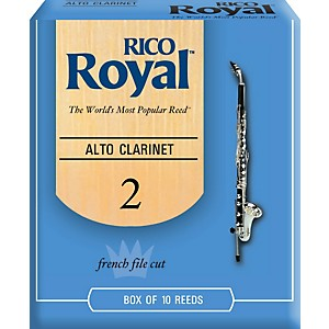 Rico Royal Alto Clarinet Reeds, Box of 10 by Rico Royal