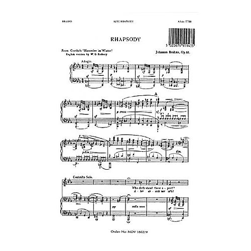 Novello Alto Rhapsody TTBB Composed by Johannes Brahms