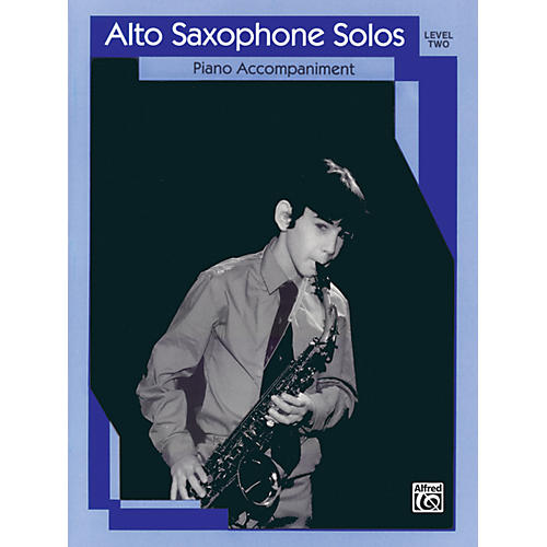 Alfred Alto Saxophone Solos Level II Piano Acc.-thumbnail