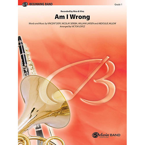 Alfred Am I Wrong Concert Band Grade 1-thumbnail