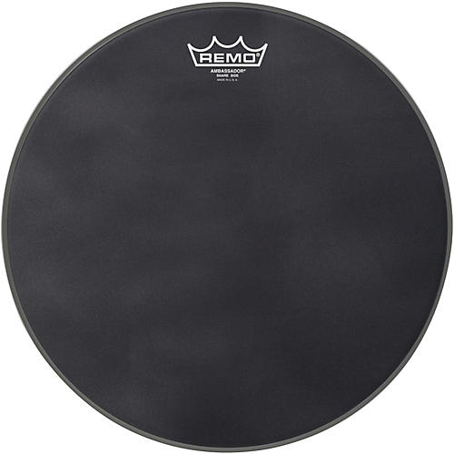 Remo Ambassador Black Suede Snare Side Drum Head-thumbnail