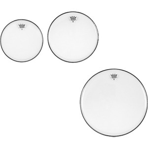 Remo Ambassador Clear New Fusion Tom Drumhead Pack by Remo