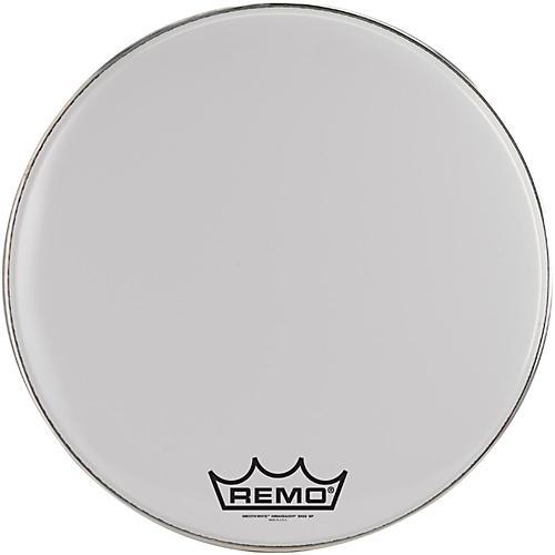 Remo Ambassador Smooth White Bass Head with Crimplock Collar-thumbnail