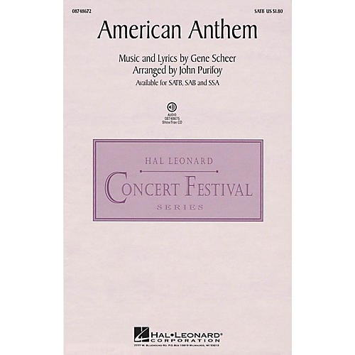 Hal Leonard American Anthem (from The War) SATB arranged by John Purifoy