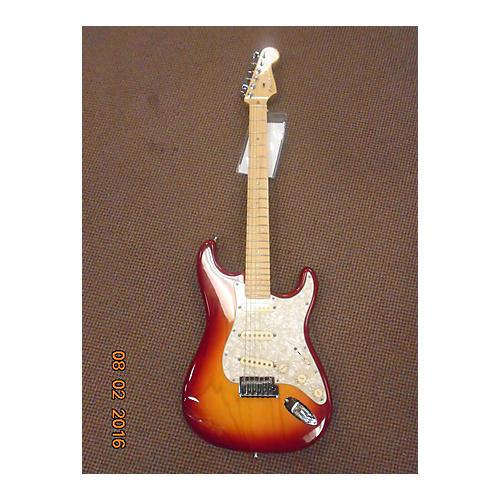 Fender American Deluxe Ash Stratocaster Solid Body Electric Guitar Sienna Sunburst