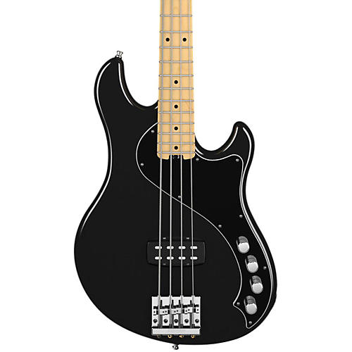 Fender American Deluxe Dimension Bass IV Black Maple Fingerboard