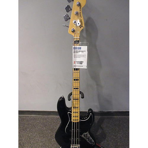 Fender American Deluxe Jazz Bass Black Electric Bass Guitar