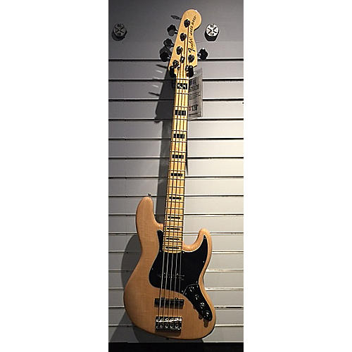 Fender American Deluxe Jazz Bass V 5 String Electric Bass Guitar Natural