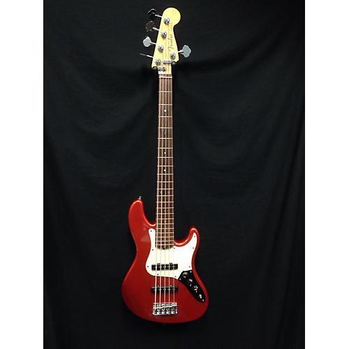 Fender American Deluxe Jazz Bass V 5 String Electric Bass Guitar Orange