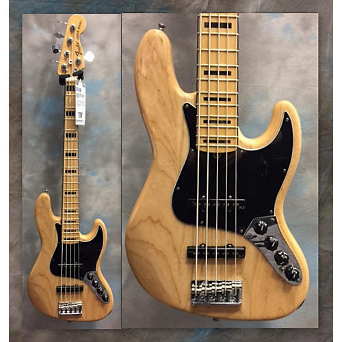 Fender American Deluxe Jazz Bass V Electric Bass Guitar Natural