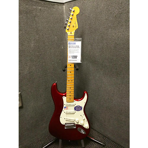 Fender American Deluxe Stratocaster Candy Apple Red Solid Body Electric Guitar