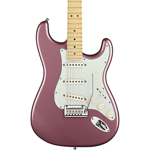 Fender American Deluxe Stratocaster Electric Guitar Burgundy Mist Metallic Maple Fretboard