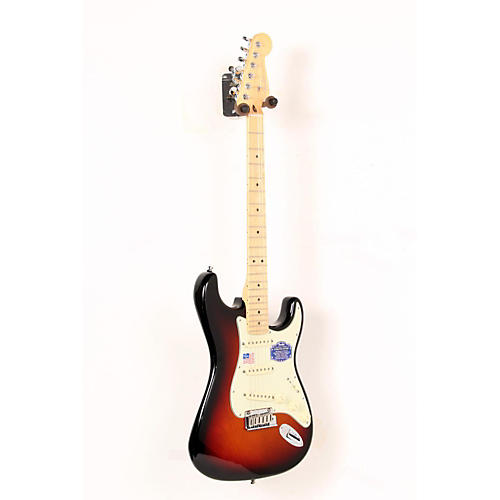 Fender American Deluxe Stratocaster Electric Guitar 3-Color Sunburst, Maple Neck 888365366838
