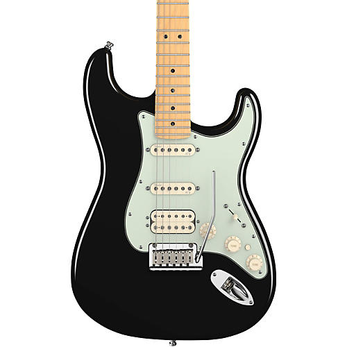 Fender American Deluxe Stratocaster HSS Electric Guitar Black Maple Fretboard