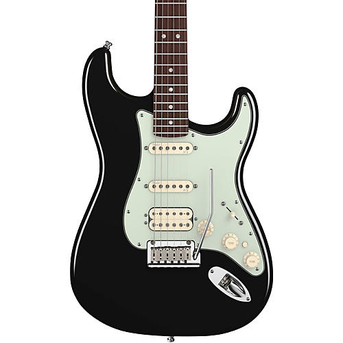 Fender American Deluxe Stratocaster HSS Electric Guitar Black Rosewood Fretboard